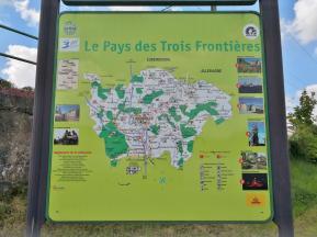 Französische Wanderkarte im Dreiländereck