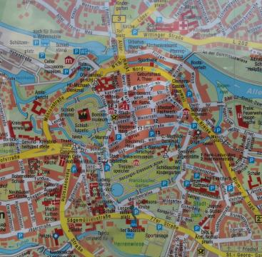 Lageplan der Altstadt