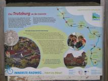 Infotafel an der Domäne Marienburg