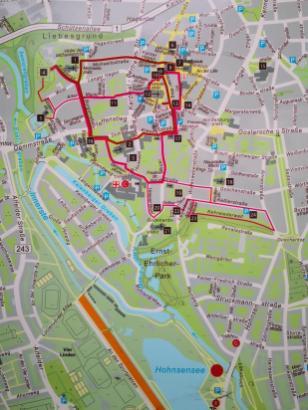 Stadplan mit den historischen Sehenswürdigkeiten