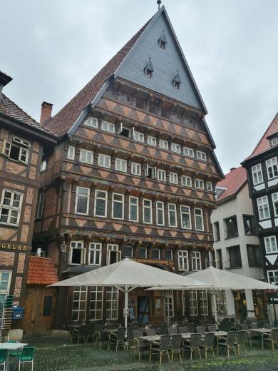 Das Knochenhaueramtshaus von 1529, ehemaliges Gildehaus der Fleischer am Markt