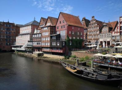 Blick auf den Stintmarkt am Hafen