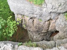 Kalkklippen - hier geht es steil hinunter