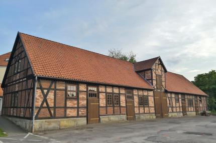 Historische Scheune an unserem Womo-Stellplatz beim Heimatmuseum.