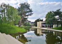 Blick hinüber zum Skoda-Pavillon