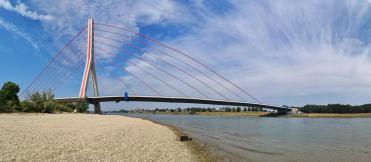 Panoramabild von der Brücke