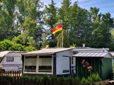 Campingplatz an der Schwalm: Die Ossis sind schon da :-)