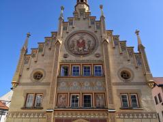Fassadendetail am früheren Heilig-Geist-Spital