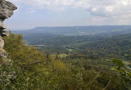 Blick vom Aussichtspunkt Hängender Stein