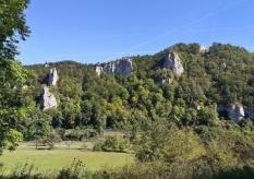 Felsen im oberen Donautal