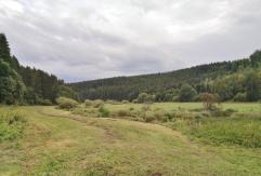Die Wiesen links und rechts des Flusses wurden gerade gemäht