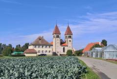 Gartenbaubetriebe und Feldflächen rund um die Kirche St. Peter und Paul