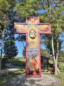 Gedenkkreuz für die 2001 heilig gesprochene Crescentia von Kaufbeuren