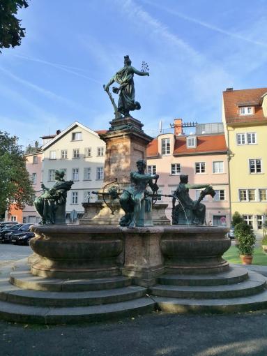 Lindaviabrunnen am Reichsplatz