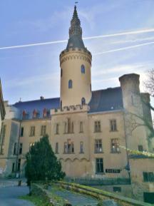 Blick in den Innenhof des Schlosses