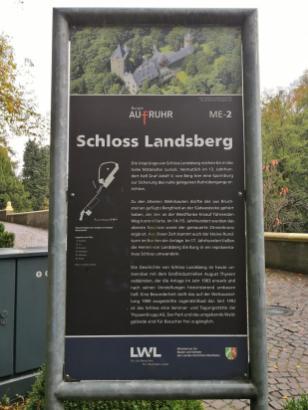 Wir starten am Schloss Landsberg