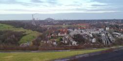 Blick auf die angzende Zehchensiedlung Schüngelberg