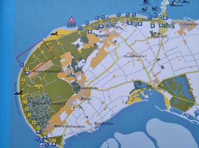 Karte von Schouwen-Duiveland
