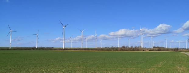 Panoramabild von den Windrädern auf der Kasterer Höhe