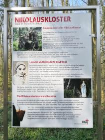 Infotafel am Nikolauskloster