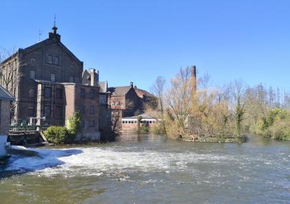Große Brata-Mühle an der Erft bei Weckhoven