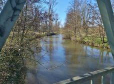 Blick von der Eppinghover Erftbrücke auf den Fluss