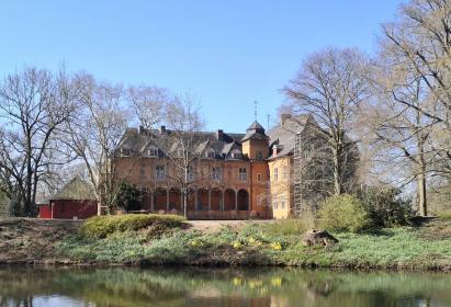 Rückseite von Schloss Rheydt