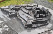 Historisches Modell des Schlossbergs
