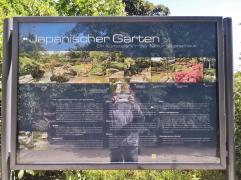 Infotafel am Japanischen Garten