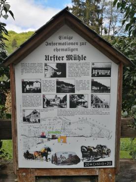 Infotafel an der alten Urfter Mühle