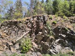 Geologischer Aufschluss bei Jeutmecke