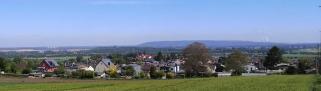 Panoramablick über Langerwehe hinweg in Richtung Inden und Jülich