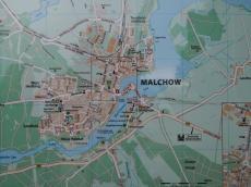 Karte von Malchow am Ortseingang