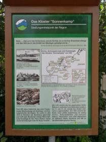 Infotafel am Kloster Sonnenkamp