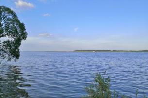 Weiter Blick auf die Müritz und das Naturschutzgebiet Großer Schwerin am anderen Ufer