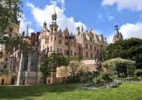 Schloss Schwerin Westflügel, vom Burggarten aus gesehen