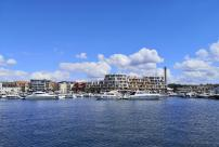 Moderne Wohnbebauung im Hafen