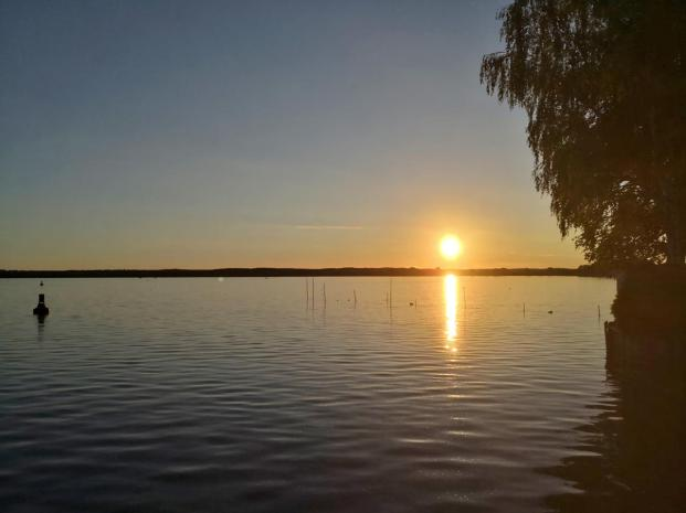 Sonneuntergang über dem Zierkesee