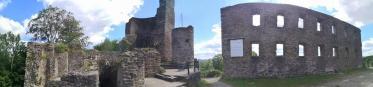 Panoramabild von der Burg Alt-Windeck