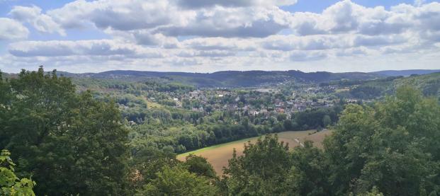 Blick von der Burg Windeck ins Siegtal