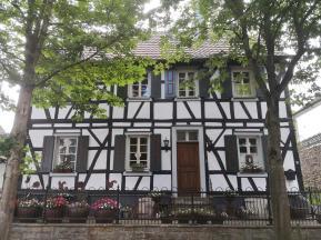 Fachwerkhäiuser in der Altstadt von Blankenberg