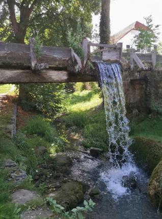 Abfluss des Mühlberger Sprin in den Weidbach