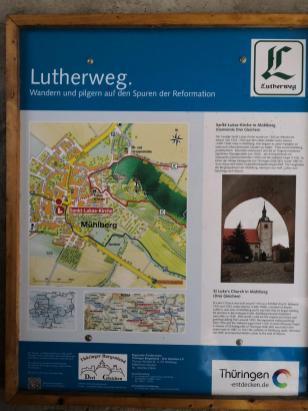 Der Ort ist eine Station auf dem Lutherweg