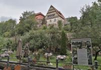 Blick von den Weberhäusern hinauf zum Malzhaus