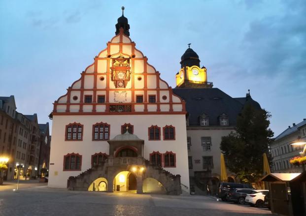 Das Alte Rathaus bei Nacht