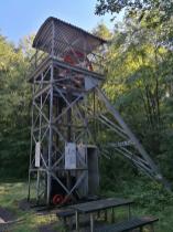 Ehemaliger Förderturm am 240 Meter tiefen Franziskaschacht