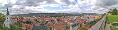 Panoramablick vom Schloss über die Altstadt von Rudolstadt