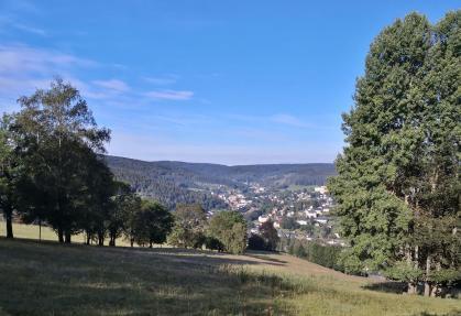 Blick vom Lämpelberg auf Klingenthal