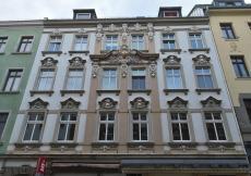 Schöne Fassade in der Äußere Plauensche Straße