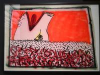 Motiv aus der Keith Haring-Ausstellung in Essen
